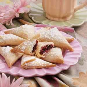 Cranberry Phyllo Triangles Recipe