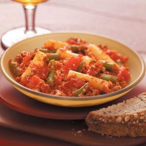 Beefy Red Pepper Pasta Recipe