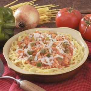 Ground Turkey Spaghetti Pie Recipe