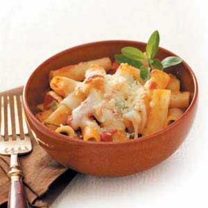 Four-Cheese Baked Ziti Recipe
