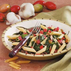Spinach Turkey Penne Recipe
