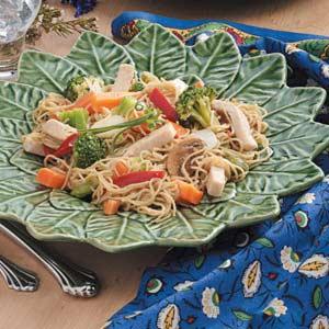 Turkey Vegetable Lo Mein Recipe