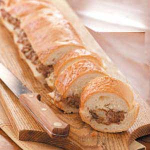 French Bread Stuffed with Beef Recipe
