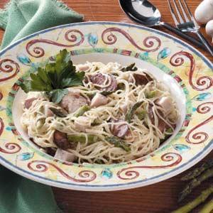 Asparagus-Turkey Pasta Toss Recipe