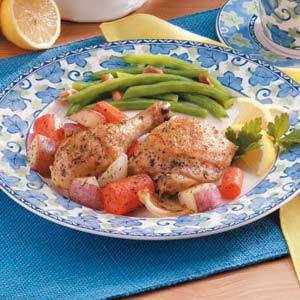 Greek Chicken Dinner Recipe
