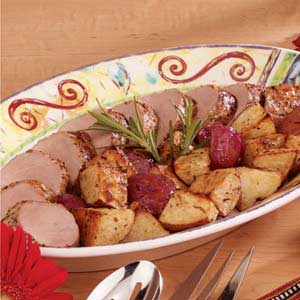 Pork Tenderloins with Roasted Potatoes Recipe