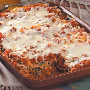 Beef and Spinach Lasagna Recipe