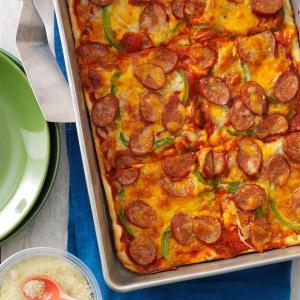 Sausage & Pepper Pizza Recipe