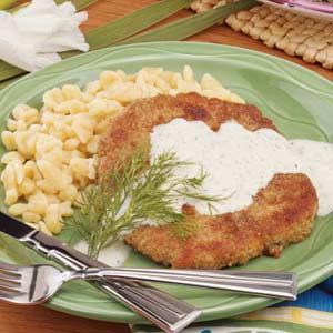 Pork Schnitzel with Sauce Recipe