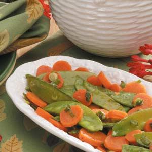 Glazed Carrots and Snow Peas Recipe