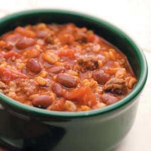 Chili with Barley Recipe