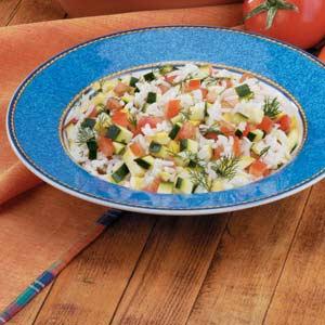 Squash and Zucchini Rice Medley Recipe
