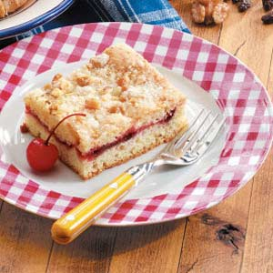 Cherry Coffee Cake with Walnut Topping Recipe