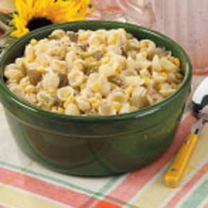 Parmesan Pasta and Corn Recipe