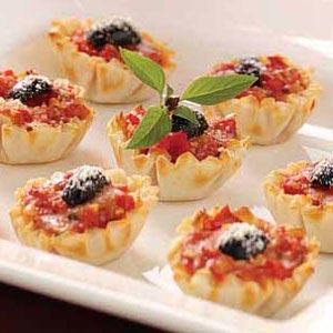 Mozzarella Tomato Tartlets Recipe