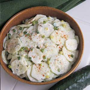 Creamed Cucumbers Recipe