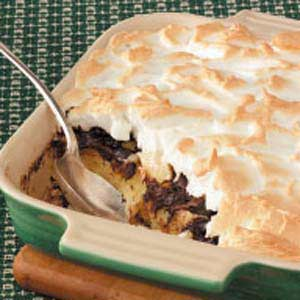Chocolate Meringue Bread Pudding Recipe