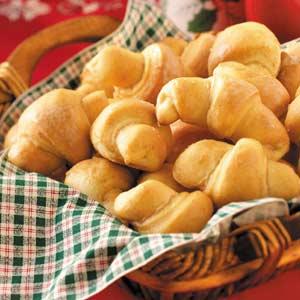 Cinnamon-Glazed Butterhorns Recipe
