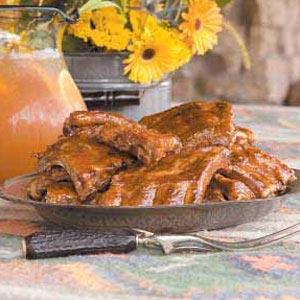 Lemon-Ginger Barbecued Ribs Recipe