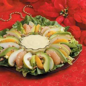 Winter Salad with Orange Cream Recipe