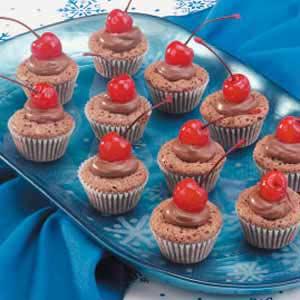Cherry Brownie Cups Recipe