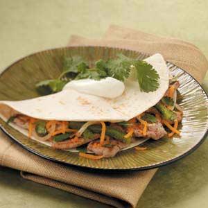 Pork Tenderloin Fajitas Recipe