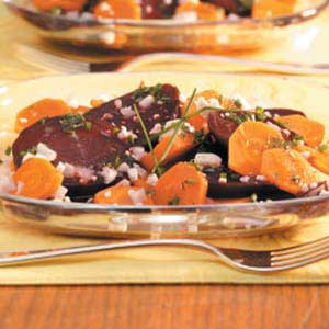 Minty Beet Carrot Salad Recipe