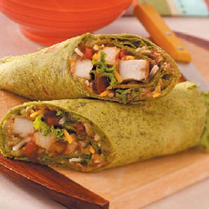 Guacamole Chicken Wraps for Two Recipe
