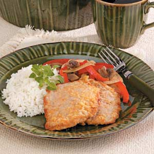 Veal Cutlet with Red Peppers Recipe
