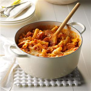 Fire-Roasted Ziti with Sausage Recipe