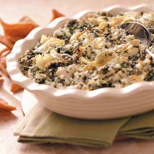 Makeover Spinach Artichoke Spread Recipe