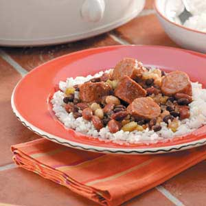 Three Beans and Sausage Recipe