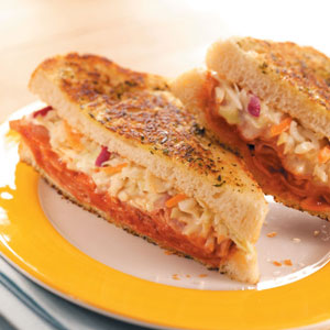 Toasted Barbecued Ham Sandwiches Recipe