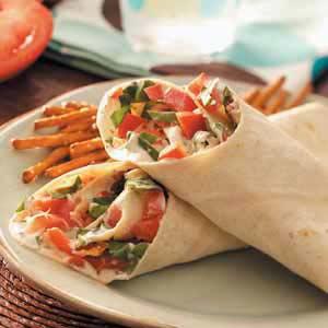 Garden Vegetable Wraps Recipe