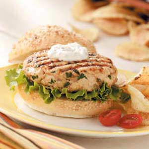 Turkey Burgers with Herb Sauce Recipe