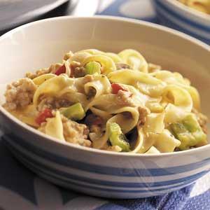 Golden Pork 'n' Noodles Recipe