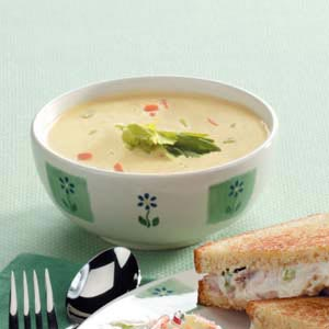 Creamy Vegetable Soup with Cheese Recipe