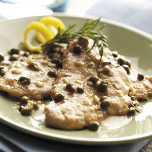 Lemon-Caper Pork Medallions Recipe