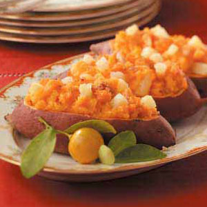 Pineapple Sweet Potato Boats Recipe