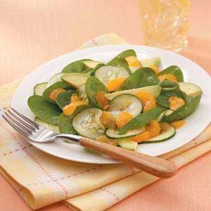 Avocado-Orange Spinach Toss Recipe