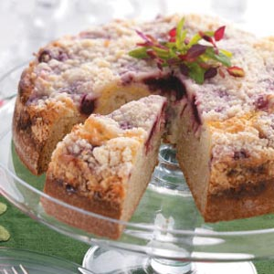 Crumb-Topped Cranberry Cake Recipe