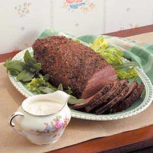 Peppery Roast Beef Recipe