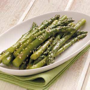 Asparagus with Sesame Seeds Recipe