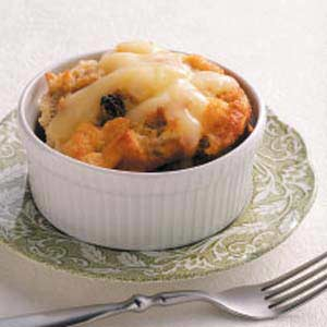 Grandmother's Bread Pudding with Lemon Sauce