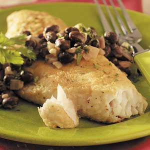 Red Snapper with Black Beans Recipe