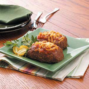 Cheese-Topped Meat Loaves Recipe
