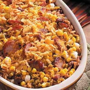 Hominy Sausage Bake Recipe