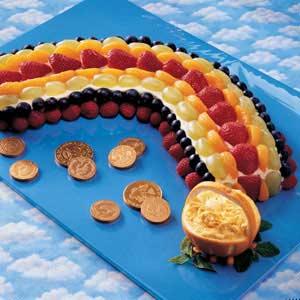 St. Patrick's Day Fruit Rainbow Recipe