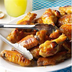 Honey mustard chicken wings recipe taste of home honey mustard chicken wings recipe forumfinder Images