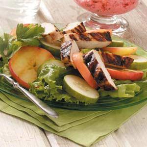 Grilled Chicken Cucumber Salad Recipe